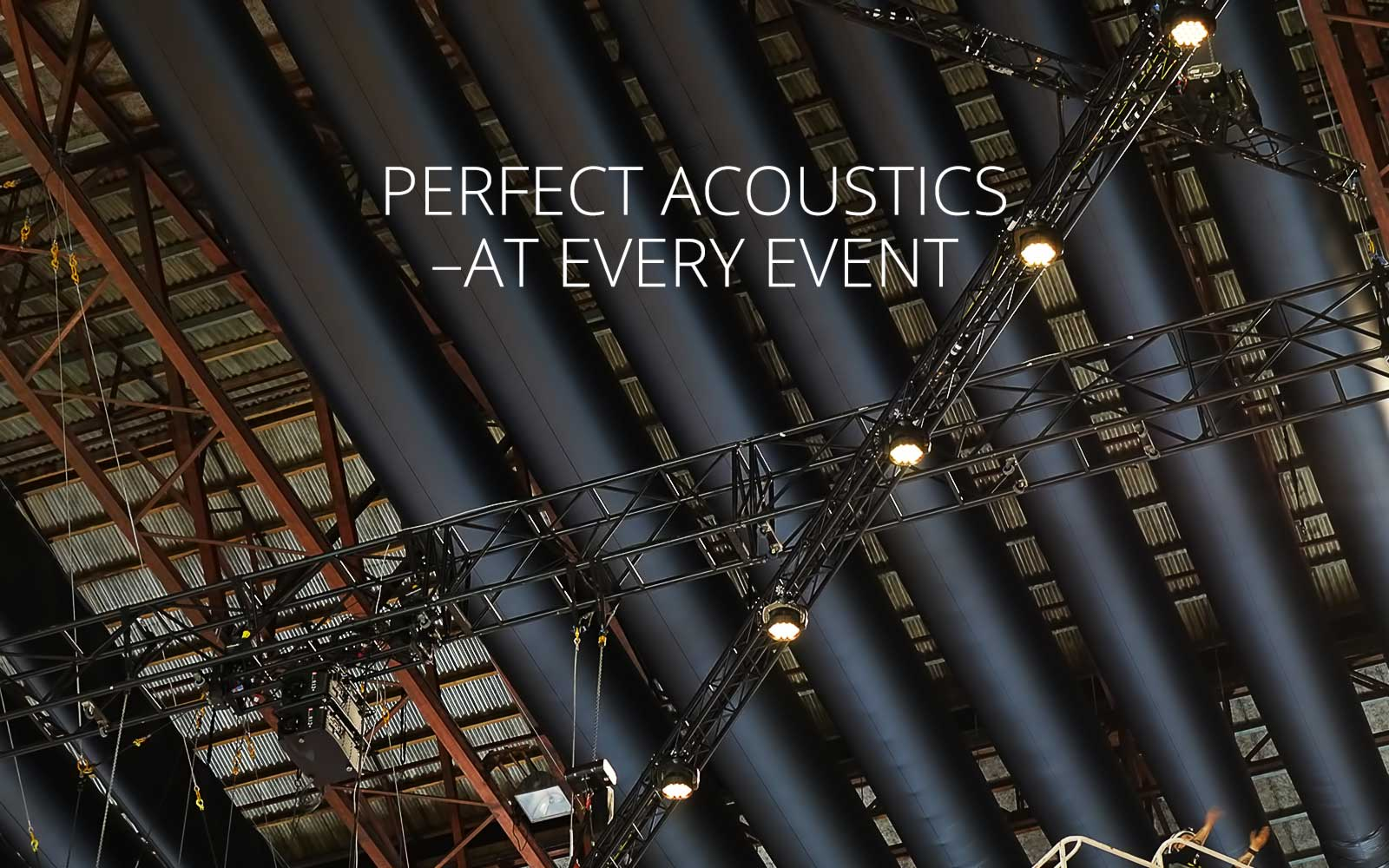 Variable Acoustics - perfect acoustics at every event